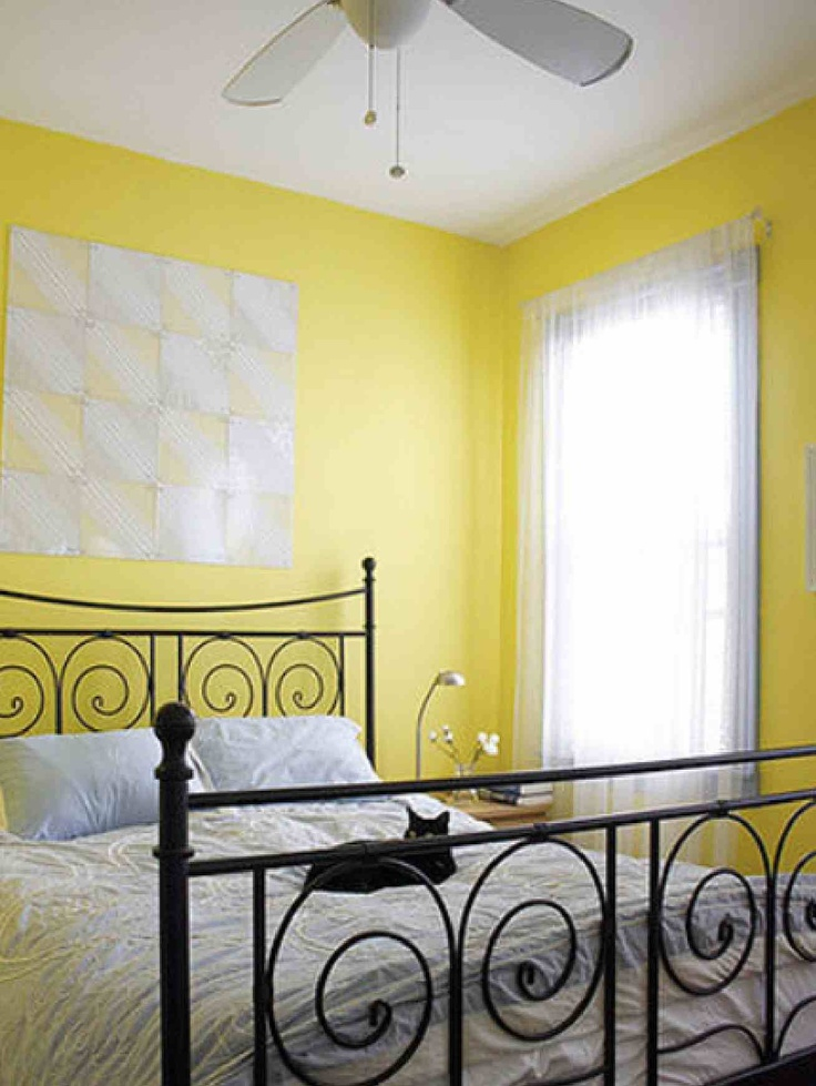 Yellow Wall Bedroom. Fabulous Medium Size Of Bedroom Bedroom Accent ...