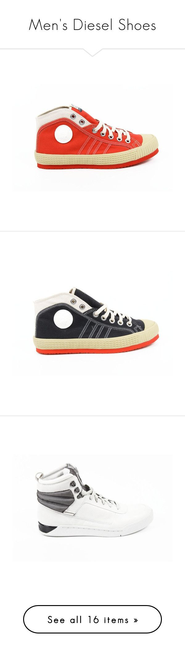 """""""Men's Diesel Shoes"""" by dare2buyonline on Polyvore featuring men's fashion"""
