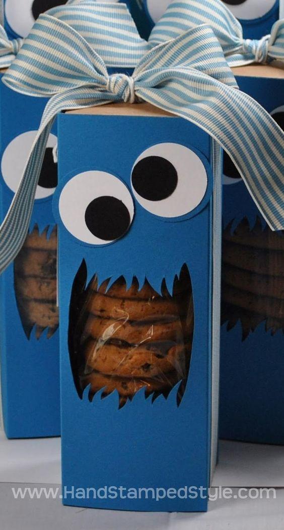 """Caja para galletas de Triky """"El Monstruo de las Galletas"""""""