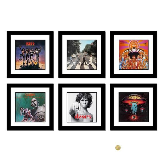 Vinyl Record Frame With Mat Lp Not Included Record Album Etsy Framed Records Vinyl Record Frame Album Frames