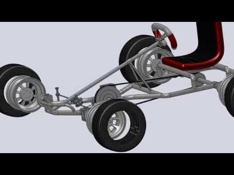Pedal Go Kart 3D - SolidWorks - YouTube