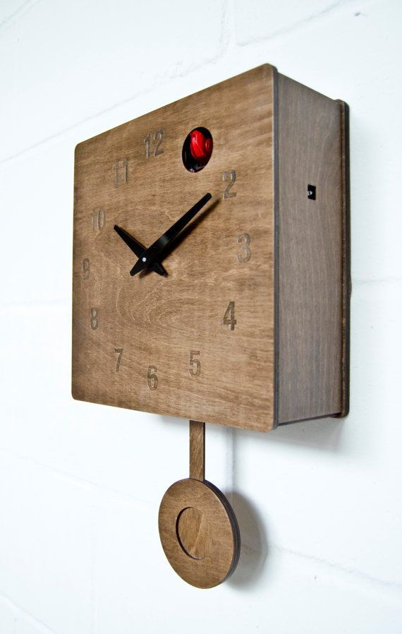 Quercus Numerical Modern Cuckoo Clock in Walnut by pedromealha