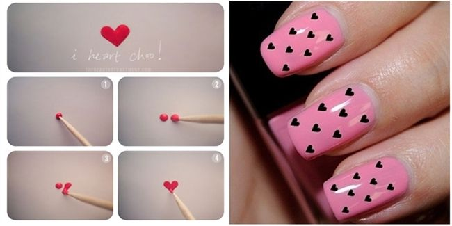 Love Nail Arts For Valentine's Day