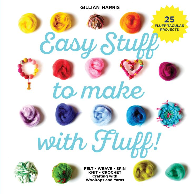 My new book being published this March 2017 about everything you can do with #wooltops (#roving) and #yarns. 25 easy projects including #felting, drop spindle #spinning, #weaving, #giant #crochet and #extreme #chunky #knitting! Also just #craft stuff for #kids and #adults too!