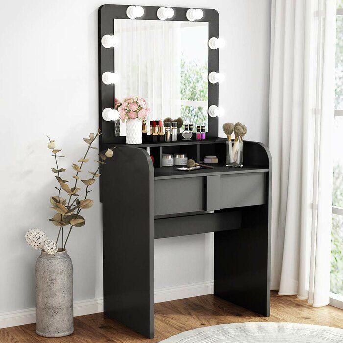 Peristerona Vanity With Mirror Vanity Table Set Vanity Table Mirror With Lights
