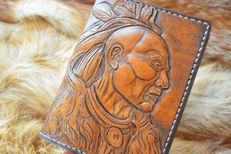 Купить Портмоне кожаное Великий Змей, с вставкой под автодокументы - портмоне, портмоне мужской
