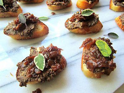 Stacey Snacks: Crostini alla Toscana (Italian Style Chicken Liver Toasts)