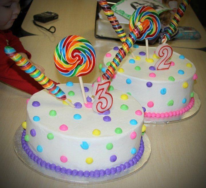 Birthday Cakes - Poka Dots and Candy