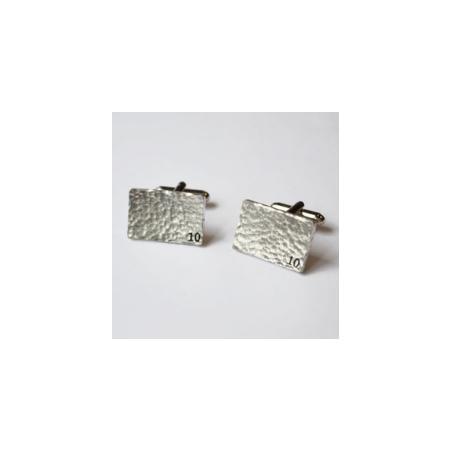 10th Wedding Anniversary Gift Ideas / 10th Wedding Anniversary Rectangle Tin Cufflinks