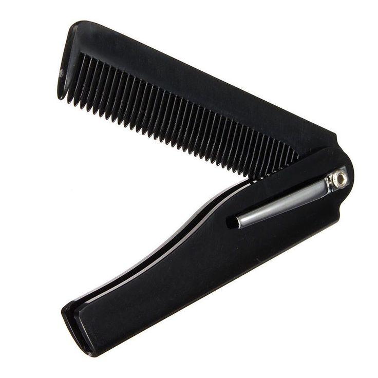 Hot Fashion Mens Womens Handmade Folding Pocket Clip Hair Moustache Beard Comb