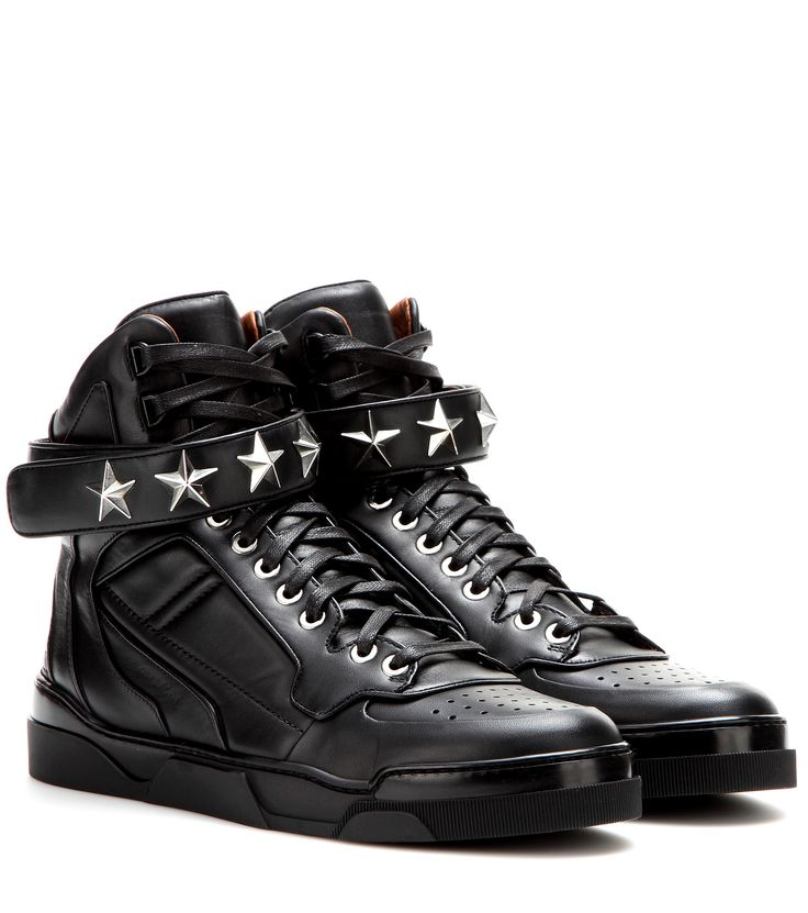 Tyson Stars Leather High-Top Sneakers * Givenchy ∇ mytheresa.com
