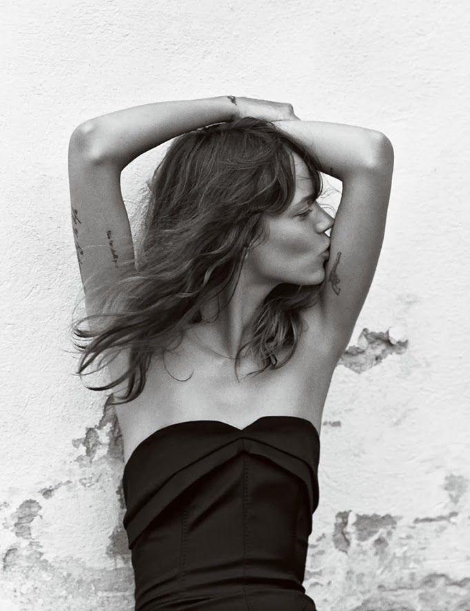 Freja Beha by Cass Bird for Vogue UK - January 2014. #tattoo #tattoos #ink