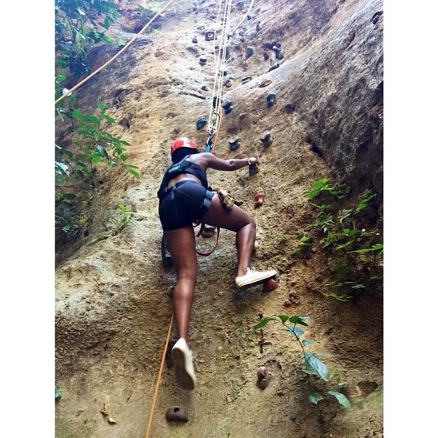 Rock Climbing in Costa Rica #blackadventuritas #Soultravel #KissyKisstheworld
