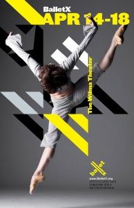 BalletX dance poster