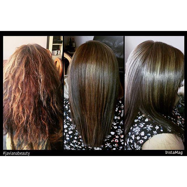 Corrección de color más shock de keratina seda #javianabeauty #hair #hairinstagram #cabellohermoso #cabellosano.