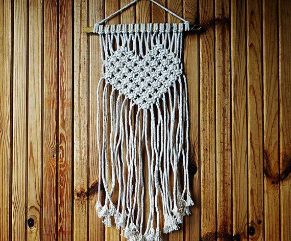 Macrame Wall Hanging Love Macrame Modern Decor Heart