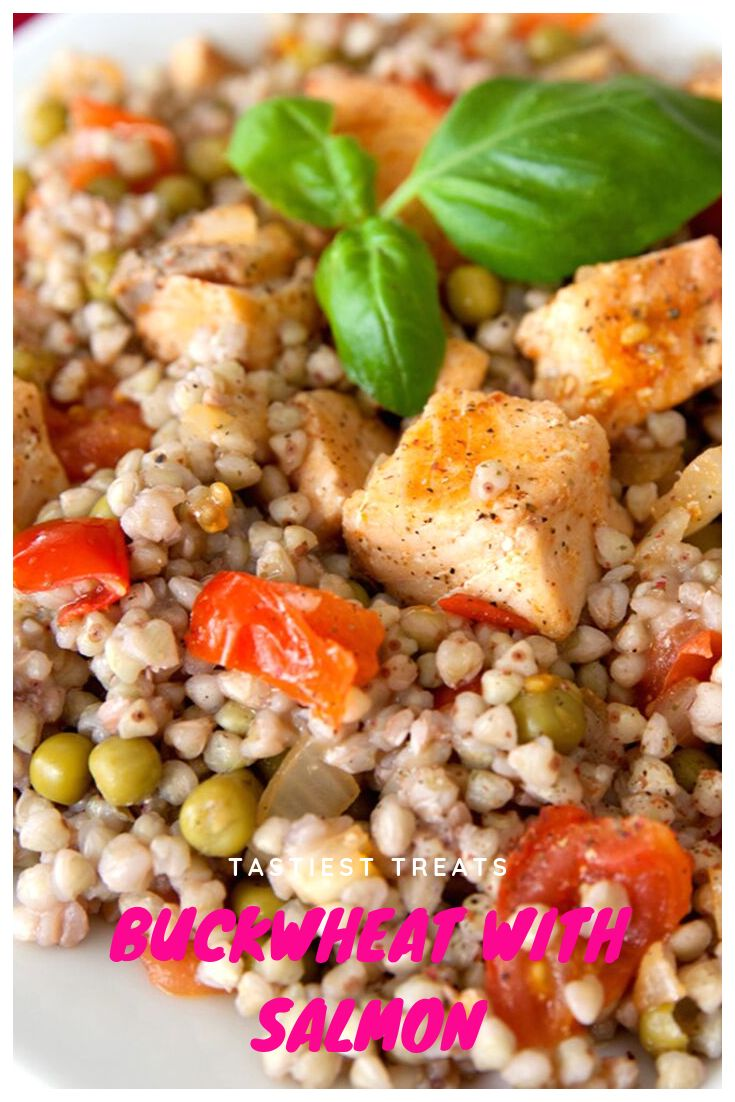 Buckwheat with salmon.  A simple but hearty dish of cooked buckwheat, with finel… – Clean Eating