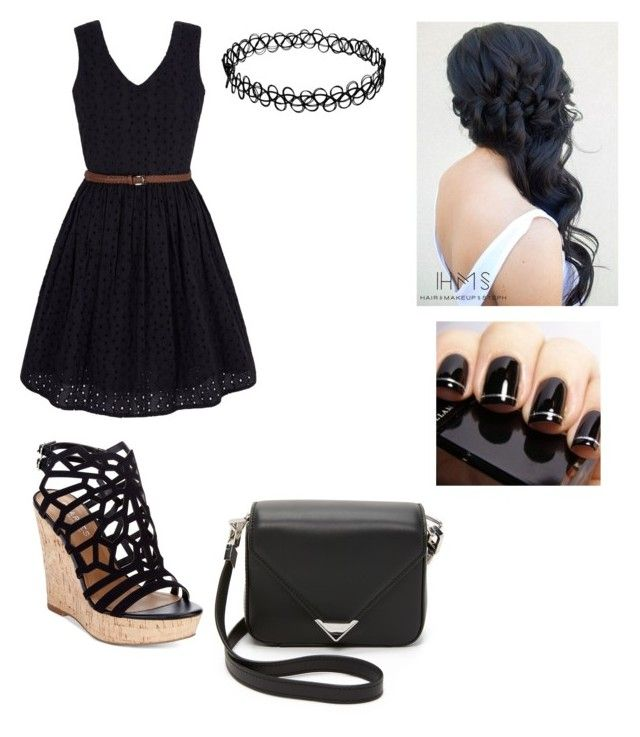 """""""black"""" by fabulouschloe on Polyvore featuring Yumi, Charles by Charles David and Alexander Wang"""