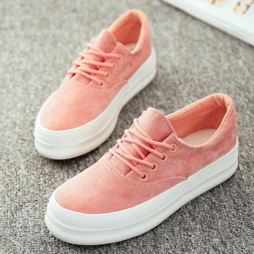Women Canvas Shoes Summer New Autumn Fashion Brand Eur Size 35-39 Lace-Up Solid Breathable Casual Shoe 171