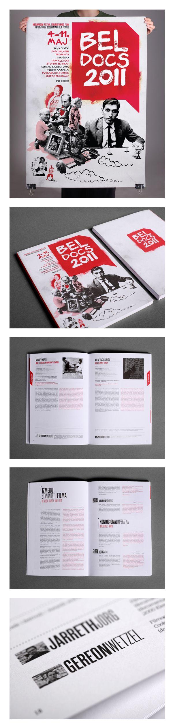 """Belgrade documentary film festival """"Beldocs 2011"""" poster & catalogue"""