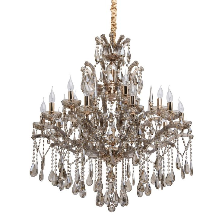 Großer Kerzen Kronleuchter Kristall CHIARO 405010316