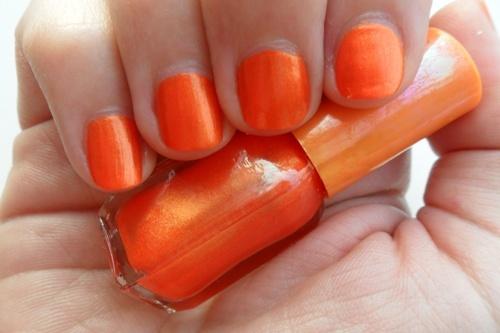 oranje nagels #kleurinspiratie