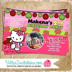 18 best hello kitty birthday invitations images on pinterest hello hello kitty bbq birthday invitation stopboris Image collections