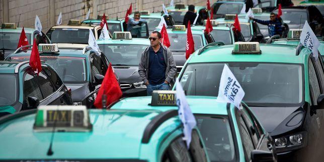 L'aéroport de Lisbonne bloqué par une manifestation de chauffeurs de taxi - Le Monde