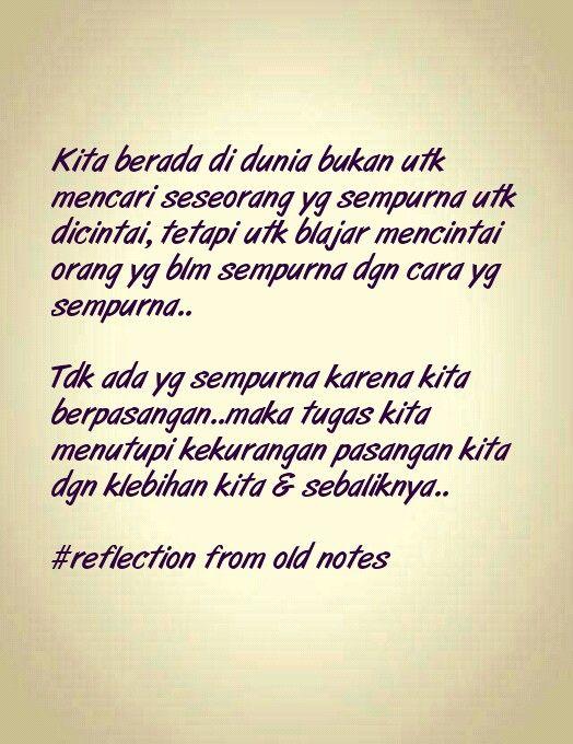 Menerima ketidaksempurnaan