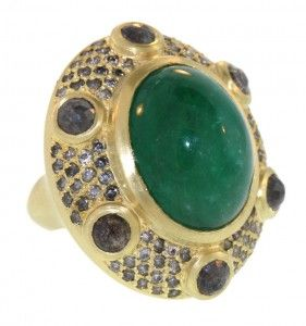Emerald + Diamond Kings Ring