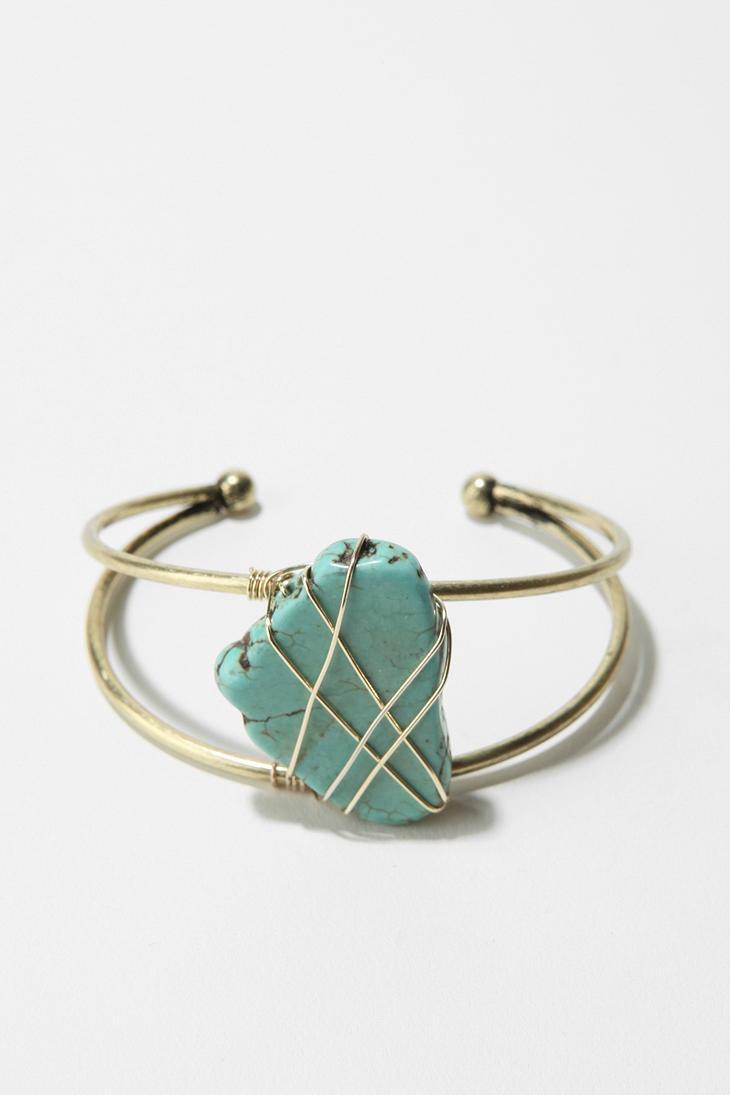 Delicate Genuine Turquoise Cuff Bracelet $20