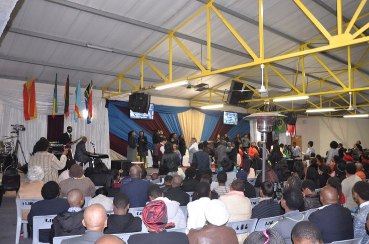 Worship in in the Baptist Church in the township of Langa, Cape Town