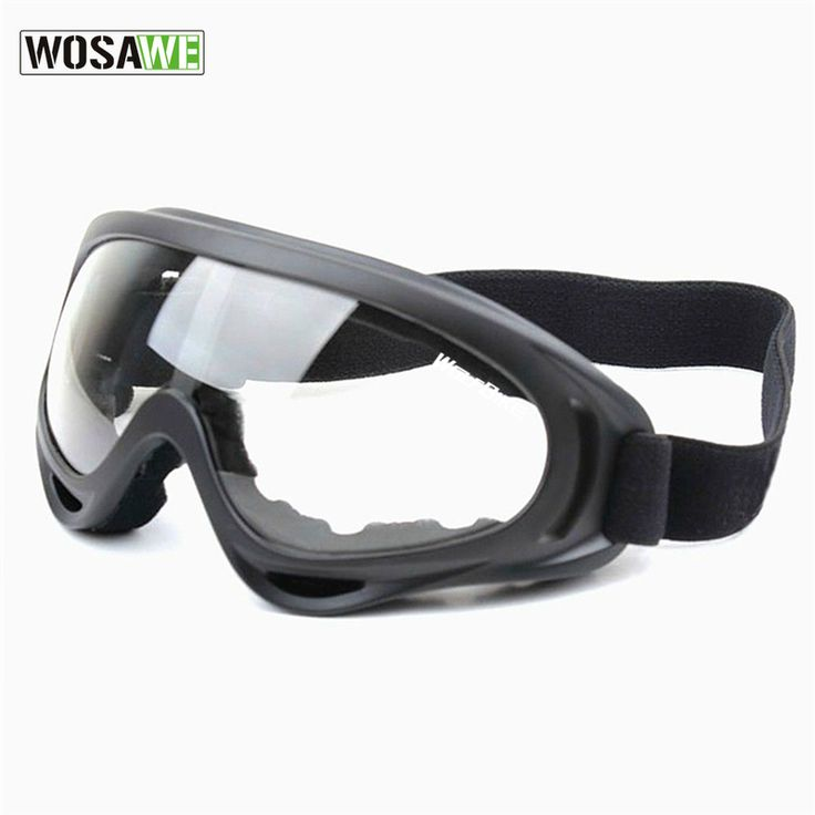 WOSAWE UV Protection Sports Ski Snowboard Skate Goggles Glasses Outdoor Motorcycle Ski Goggle Glasses Eyewear Lens Black