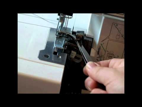 Threading a Brother 1034D Serger: This is the ONLY tutorial that properly explains a) the confusing part with/after Step 8 in threading the upper looper, and b) where each thread should go AFTER the final step is completed. If I could have this girl's babies, I would.
