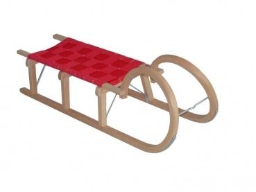 Schöner Hörnerrodel mit einem Lattensitz und 115 cm Länge. Das Holz ist hochwertiges Buchenholz. Der Schlitten hat einen roten Gurtsitz. Ein Original Gloco Schlitten TÜV geprüft und GS-Zeichen.        TÜV/GS-geprüft      Buchenholz      sehr stabil      Made in Germany      Metallkufen      Länge 115 cm