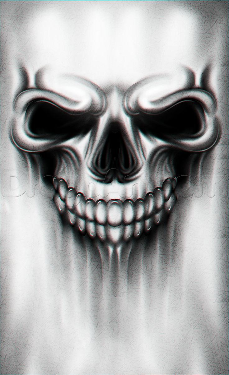 A Skull Tattoo Drawing Tutorial, Step by Step, Tattoos, Pop Culture, FREE Online Drawing Tutorial, Added by Dawn, August 1, 2015, 5:07:40 am