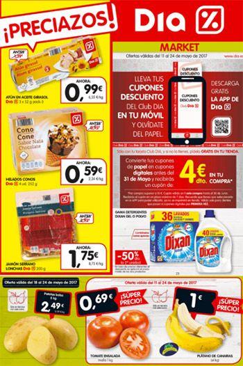 Catálogo DIA del 11 al 24 de mayo -  #dia Folleto de supermercados DIA en vigor del 11 al 24 de mayo. Este catálogo DIA está lleno de preciazos, cientos de productos al -50% de descuento  #CatálogosDIA, #Catálogosonline   Ver en la web : https://ofertassupermercados.es/catalogo-dia-del-11-al-24-mayo/