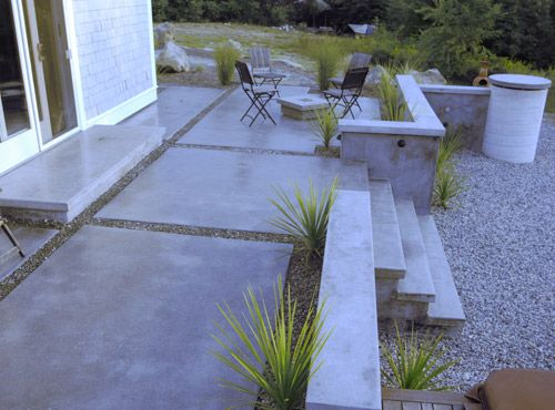 concrete retaining wall patios | Concrete patios, pool decks, concrete retainer walls, and polished ...