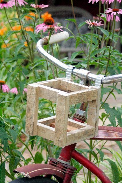 Rustic Wood Bicycle Beverage Holder  Mini by FrickandFrackScraps, $20.00