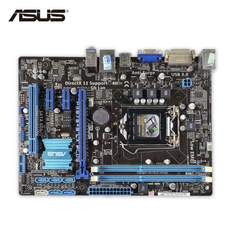 Asus P8B75-M LX PLUS Original Used Desktop Motherboard B75 Socket LGA 1155 i3 i5 i7 DDR3 16G SATA3 USB3.0 Micro ATX