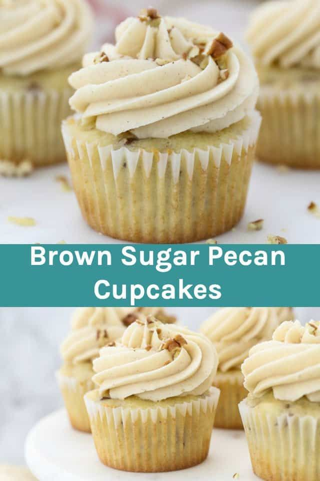 These Brown Sugar Pecan Cupcakes Are Buttermilk Cupcakes With A Hint Of Brown Sugar And Filled With Toaste Sugared Pecans Cupcake Recipes Pecan Cupcakes Recipe