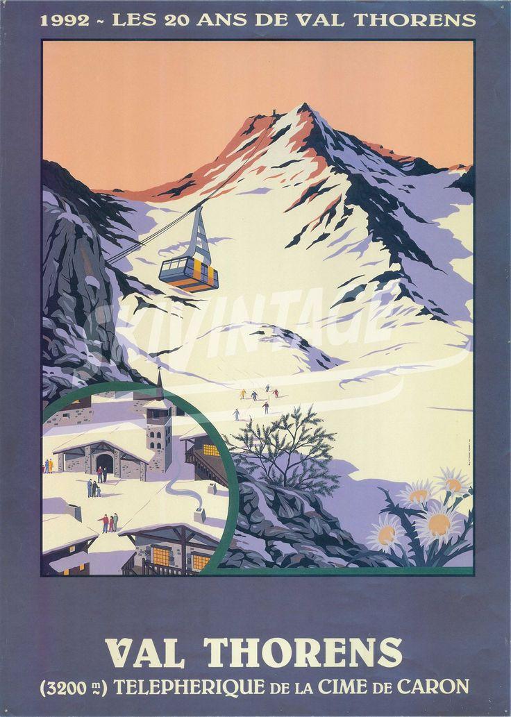 Travel Poster - Les 20 ans de Val Thorens - Téléphérique de la Cime de Caron - France - 1992.