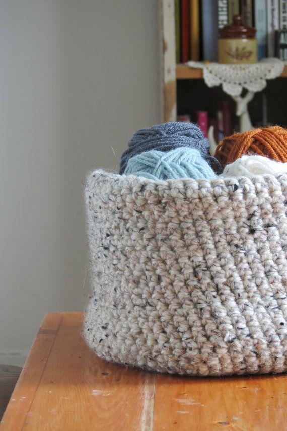 Crochet Basket Chunky Crochet Basket by AllisonLynnHandcraft