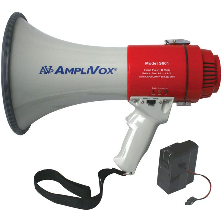 Amplivox mitymeg 15watt megaphone bundled with