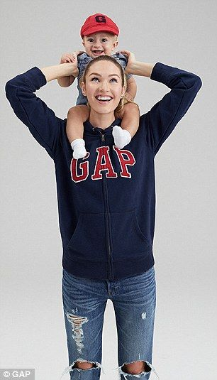 Get into the Gap with Candice's zip front hoodie. Click 'Visit' to buy now. #DailyMail