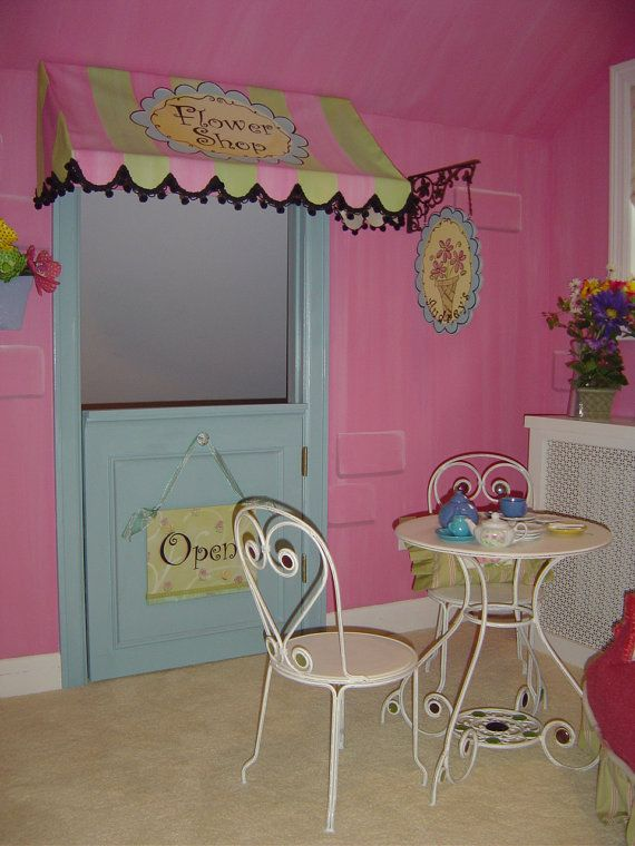 Custom Flower Shoppe Bedroom for Girls by StickyPixies on Etsy, $1500.00