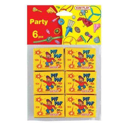 Kit 6 boîtes de 50 pétards pif paf pour enfant dès 8 ans - Oxybul éveil et jeux