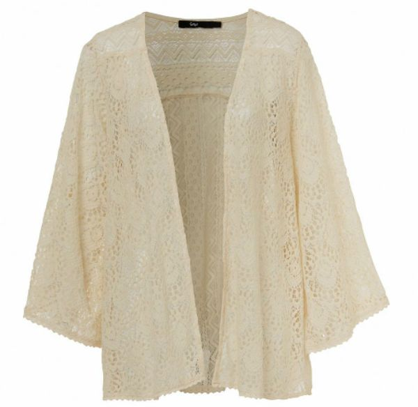 Embrace your inner Nina Proudman with this boho lace kimono from Sportsgirl.  I would simply chuck it over denim, jeans/ denim shorts or even a maxi skirt $89.95