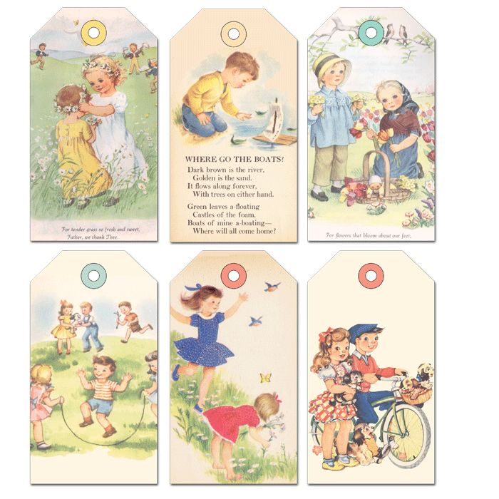 Summer Kids Shipping Tags