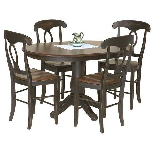 Amish Napolean Pub Table ($1,270) ❤ Liked On Polyvore Featuring Home,  Furniture,